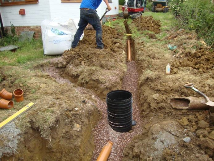 Old polluting septic tank replacement at a small cottage for Cottage septic systems